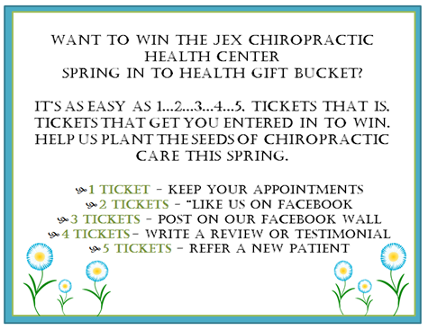 Spring into health postcard flyer 2016