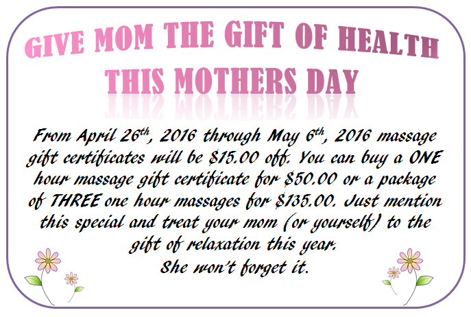 mothers day gc special 2015